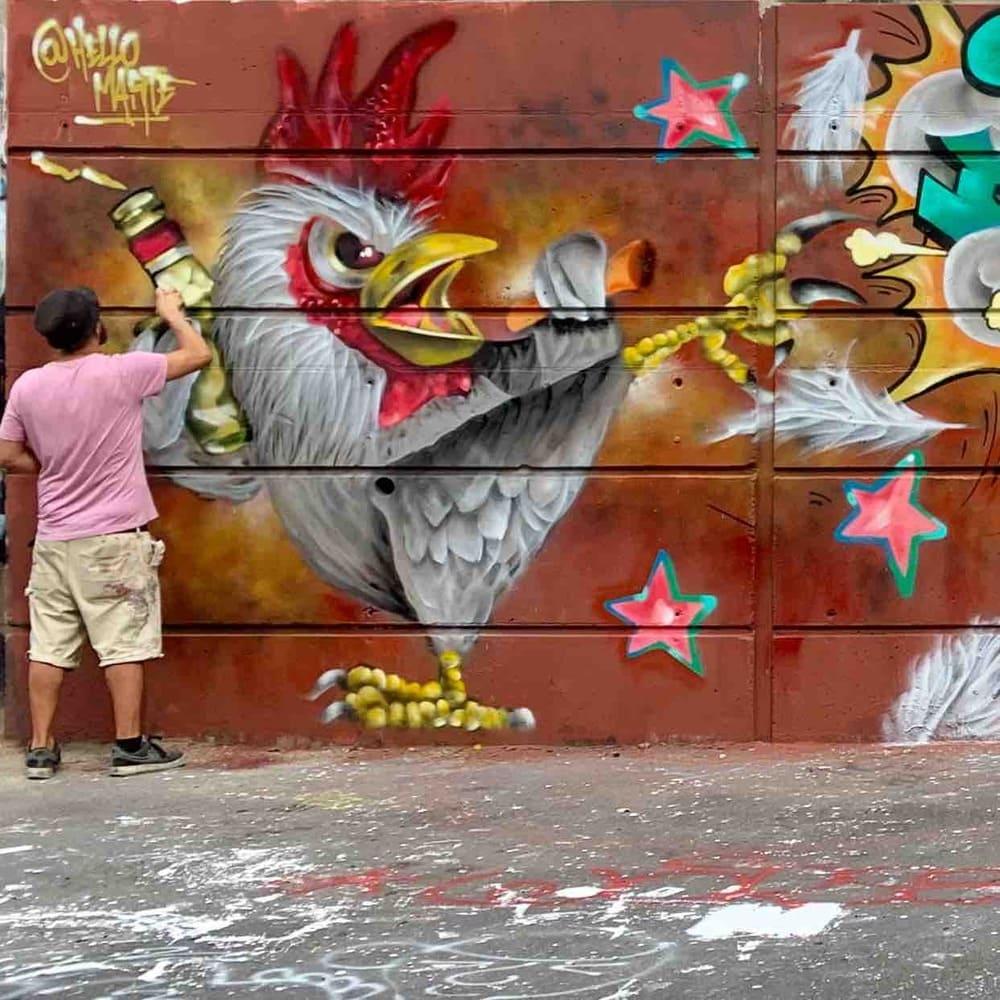 karate chick graffiti milano 2020