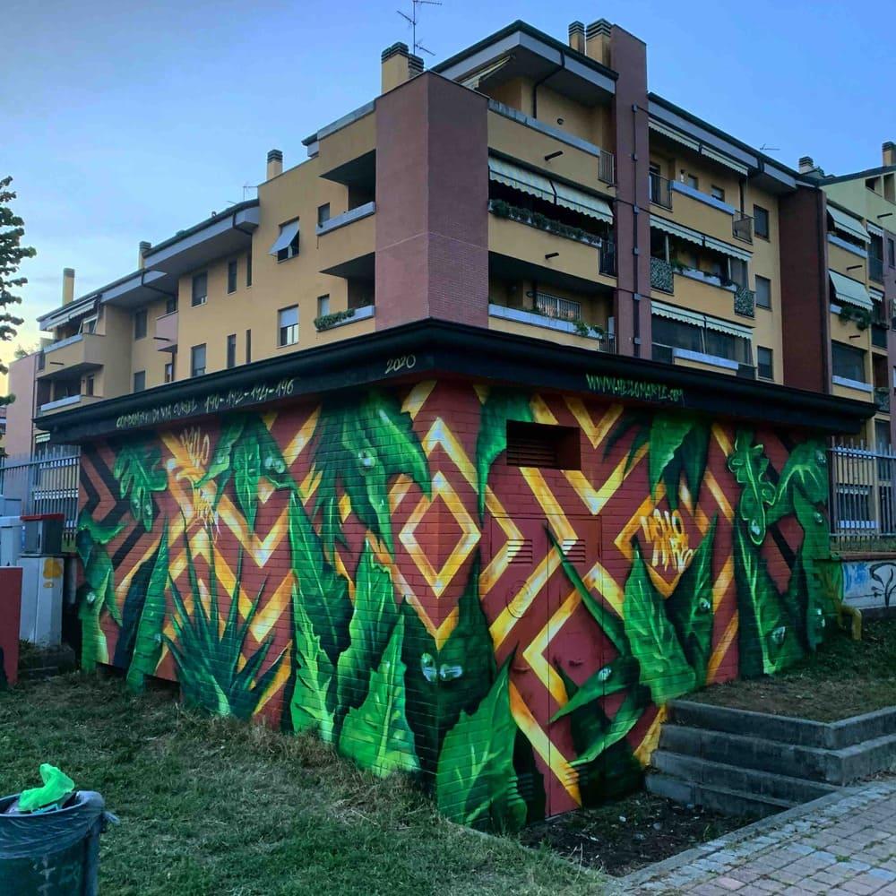 outdoor design nature mural art